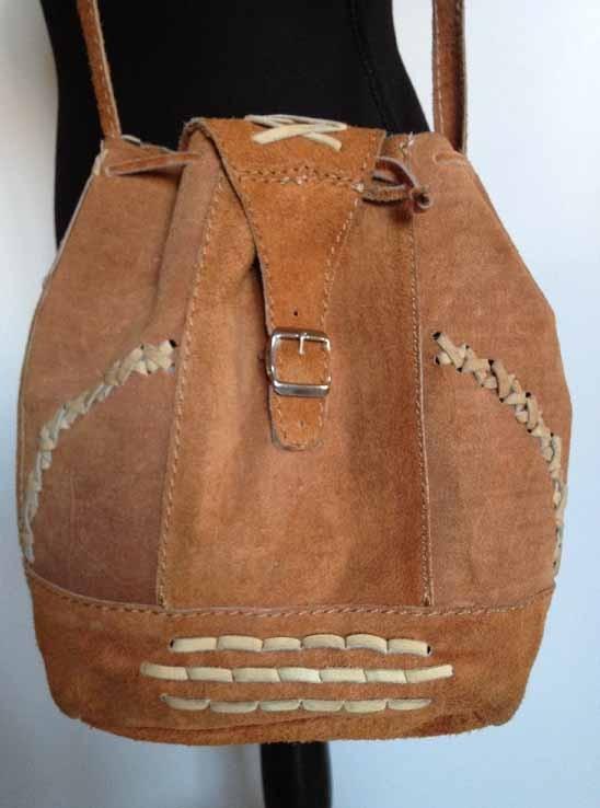 dcf523e15f5 Vintage leren damestas: schoudertas/dames tas - bruin - Dames tassen ...