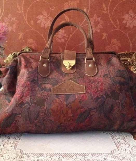 Verrassend Vintage groot/ruimte tas/shopper,stevige handtas dames,stof,bloem YQ-72